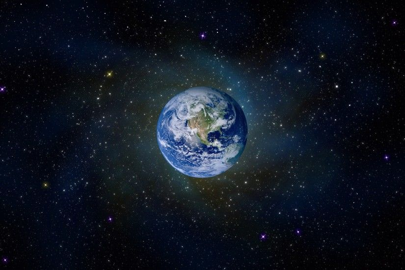Earth From Space Background Wallpaper