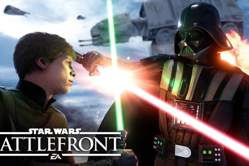 Luke Skywalker VS Darth Vader - Star Wars Battlefront 1920x1080 wallpaper