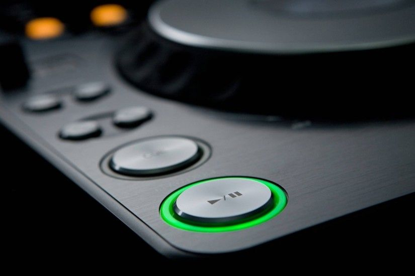 Preview wallpaper dj, mixing consoles, buttons, lights 2048x1152