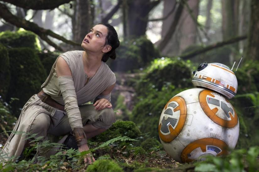 Rey, BB 8, Movies, Star Wars: The Force Awakens Wallpaper HD