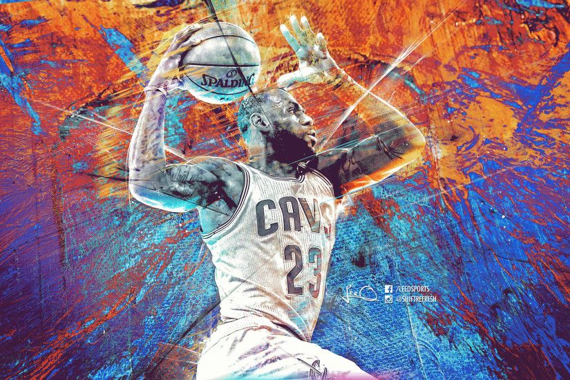 ... Lebron James NBA Art Wallpaper by skythlee