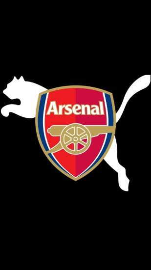 arsenal logo and puma wallpaper for mobile