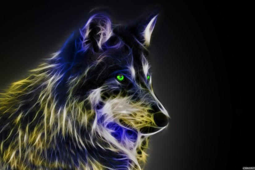Cool Wolf Wallpaper Light Fractal wolfby michalius89