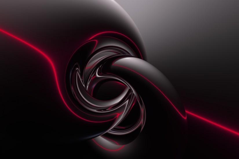 Black and Red Abstract Wide Wallpaper
