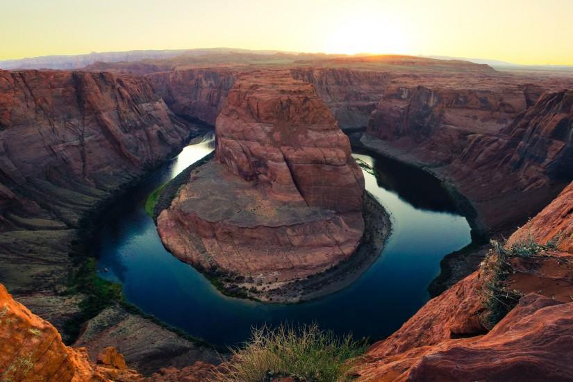 Horseshoe Bend Grand Canyon Colorado River Arizona 4K Desktop Wallpaper
