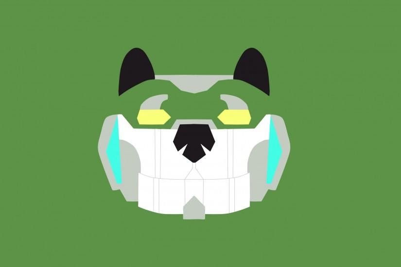 ... Green Lion Voltron minimalistic wallpaper by NiRaYt