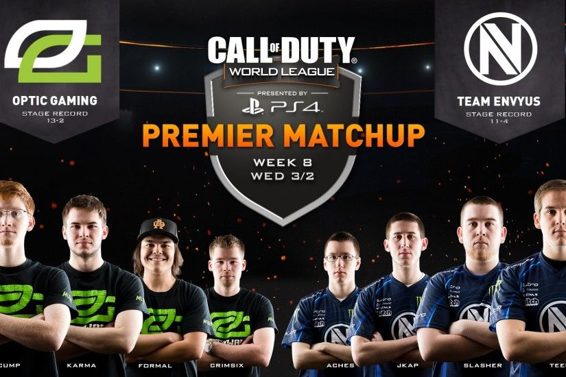 3/2 NA Pro Division OpTic Gaming vs Team EnVyUs vs - Call of Duty® World  League - YouTube