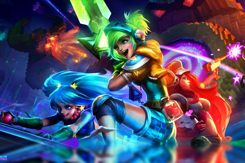 ... League of Legends Arcade - Wallpaper 1920x1080 by AliceeMad