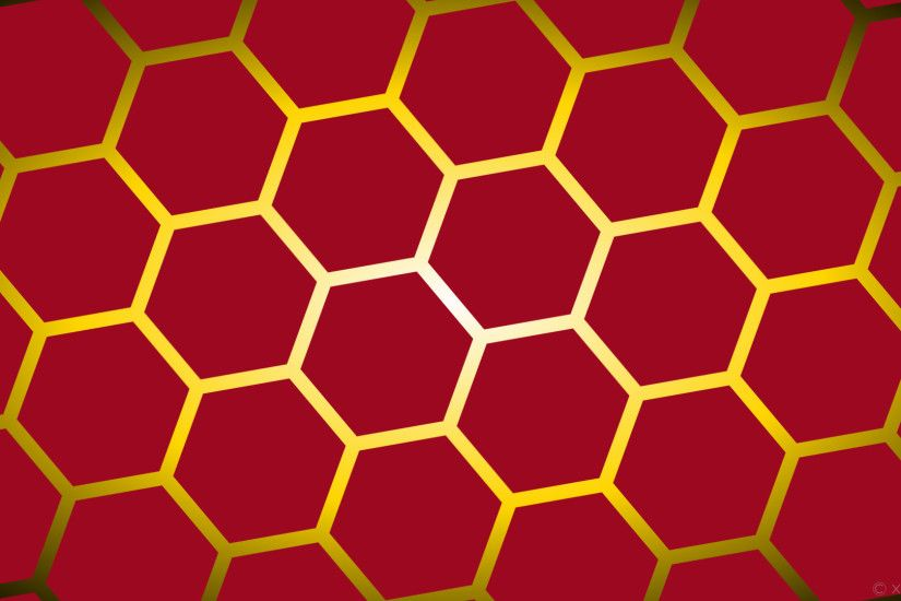 1920x1080 wallpaper yellow glow black red gradient hexagon white gold  #9b0820 #ffffff #ffd700