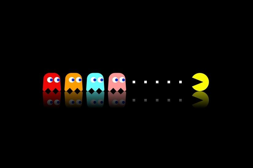 Minimalistic pac man video game wallpaper | 2327 | Desktop and mobile  backgrounds | 2560x1600