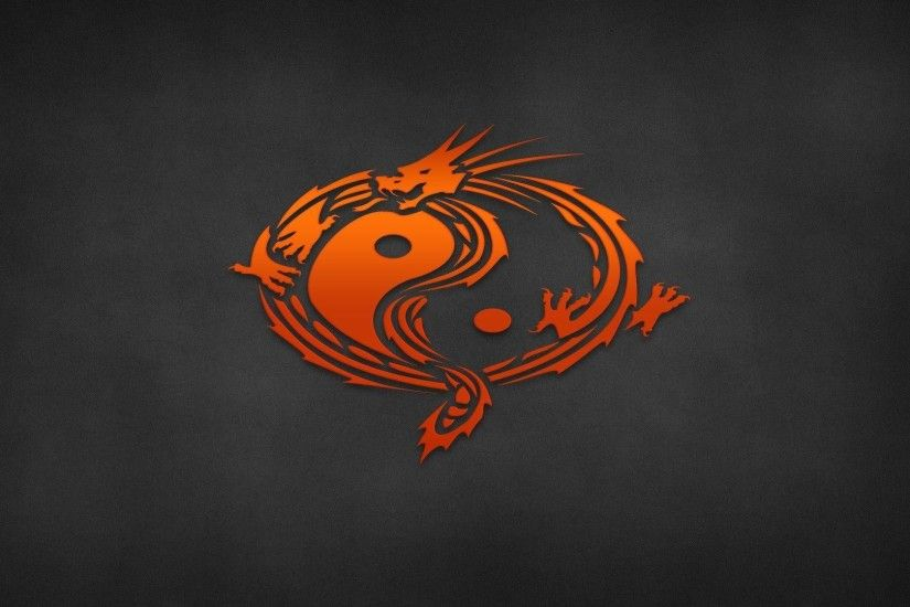HD Ying Yang Dragon Wallpaper | Download Free - 82864