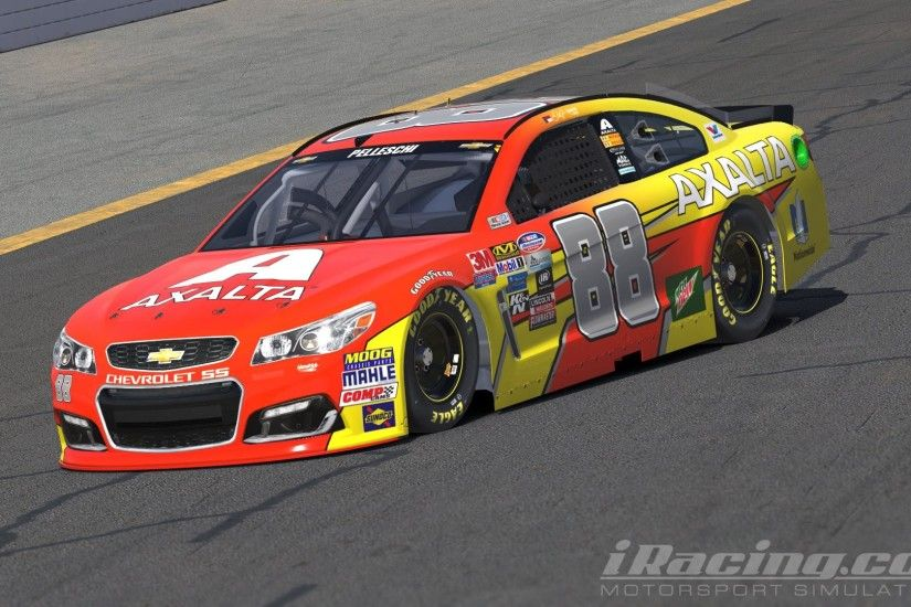 "Dale Earnhardt Jr. - AXALTA ""Flash Point"" INVERSE NASCAR Monster Energy Cup  Chevrolet SS by Andrew Pelleschi"