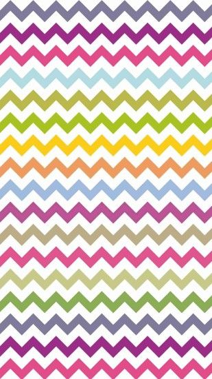 Bright Colors Zigzag and Chevron iPhone 6 Plus Wallpaper - Tribal Print  Pattern #iPhone #