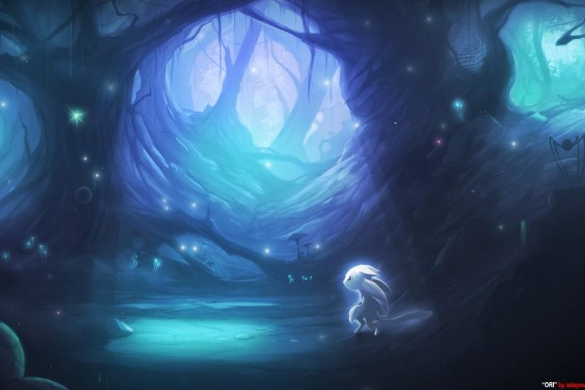 widescreen ori and the blind forest wallpaper 2048x1152