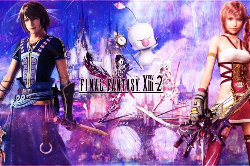 Final Fantasy XIII-2 wide wallpaper 1920x1080 Full HD