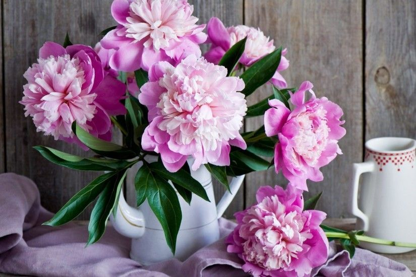 Peony Flower Bouquet Wallpaper