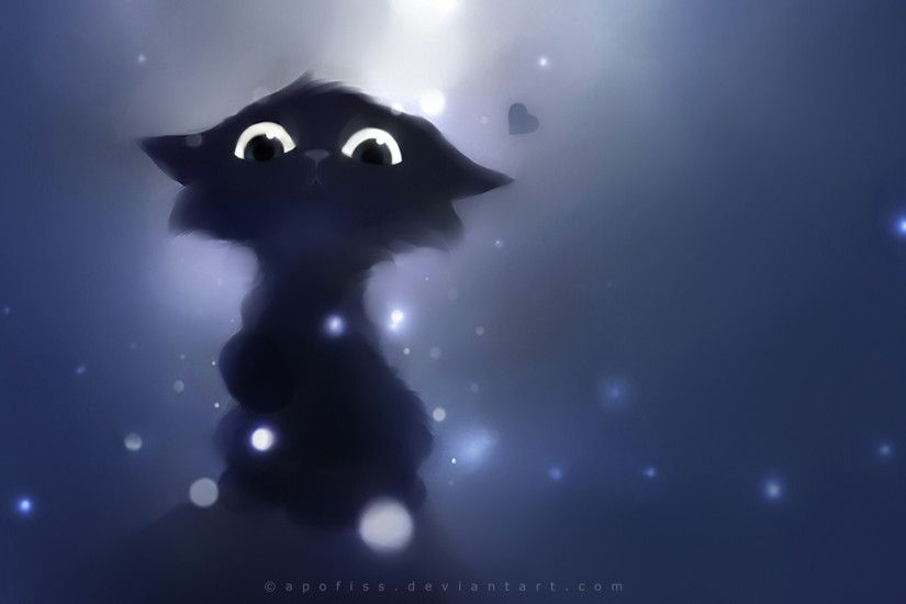 pictures of fantasy cats | cartoon cute animals fantasy eyes pov apofiss  cats kittens wallpaper .