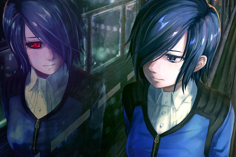 Preview wallpaper tokyo ghoul, kirishima touka, girl, anime, reflection  1920x1080