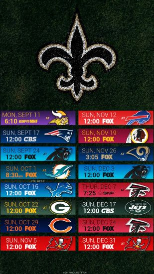 New Orleans Saints 2017 schedule turf logo wallpaper free iphone 5, 6, 7,  ...