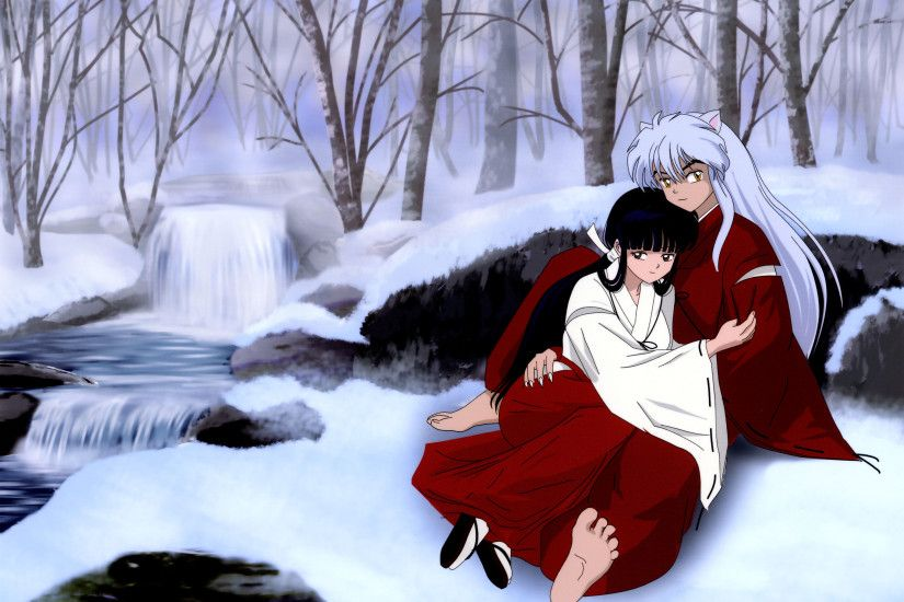 Intimate-Kikyo-InuYasha-Anime-Full-HD-Wallpaper