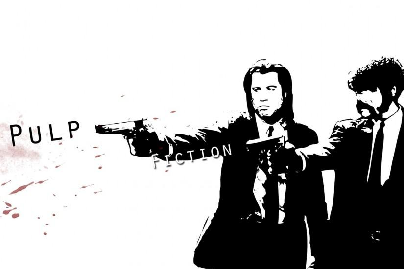 movies, Pulp Fiction, Samuel L. Jackson, John Travolta Wallpaper HD