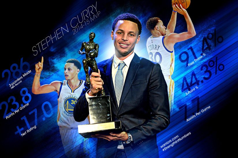 Stephen Curry 2015 MVP 2560x1440 BasketWallpapers com.