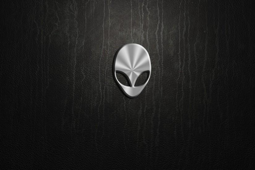 computer computers Alienware Logo Leather Texture wallpaper