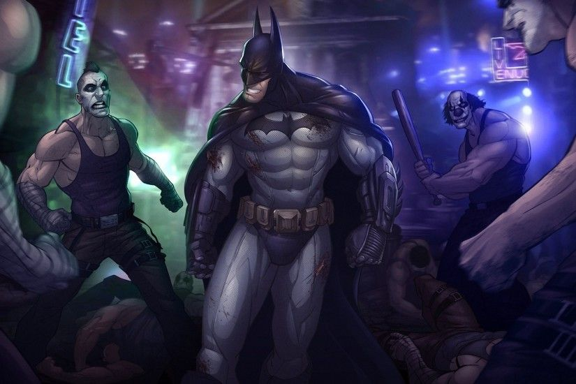 1920x1080 Wallpaper batman arkham city, batman, character, teeth, angry,  clowns