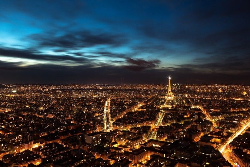 Night Paris, the Eiffel Tower HD Desktop Wallpaper