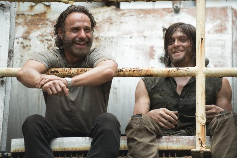 the walking dead the walking dead andrew lincoln rick grimes norman reedus daryl  dixon