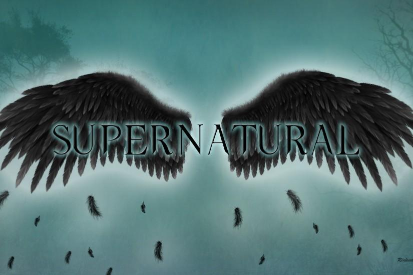 Supernatural the fallen angel wings wallpaper HD.