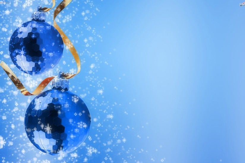 Blue Balls Christmas HD Wallpaper