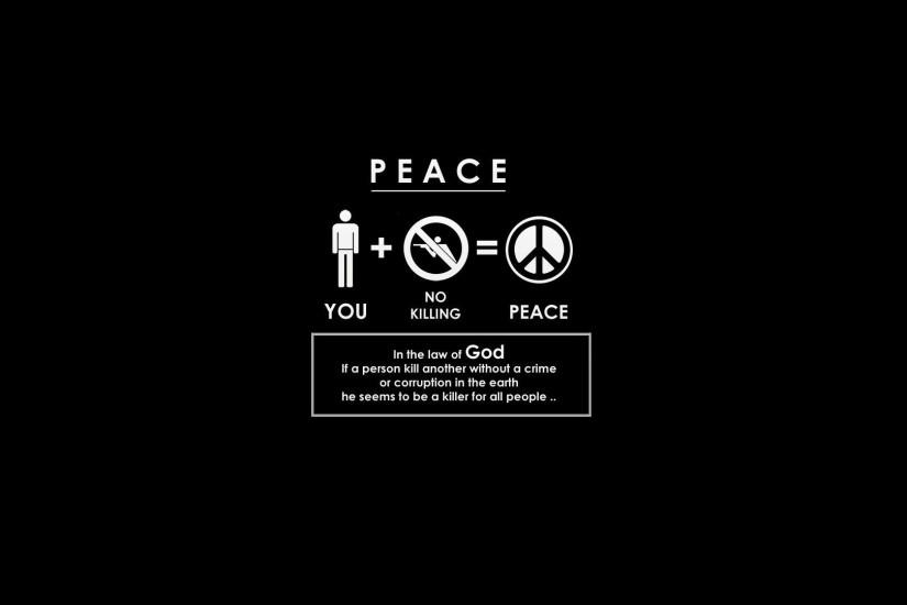 Images For > Peace Wallpaper Hd