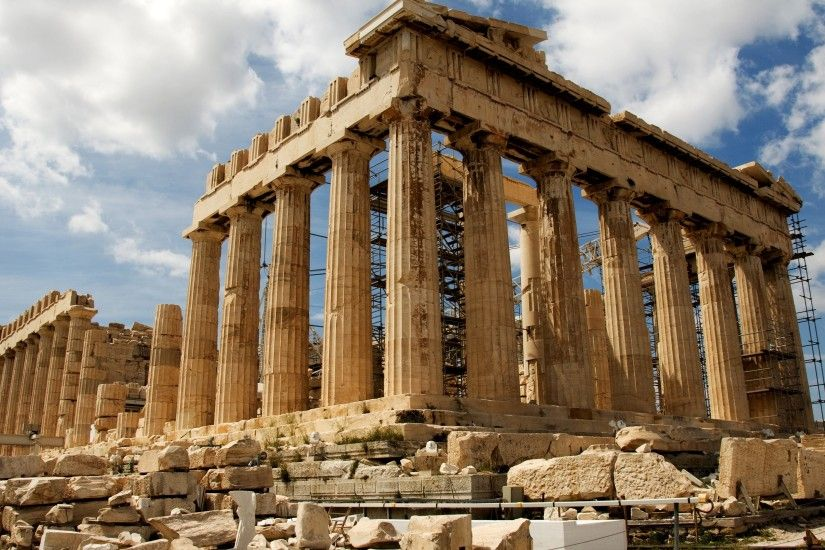 Parthenon Greece for 3840 x 2160 Ultra HD resolution