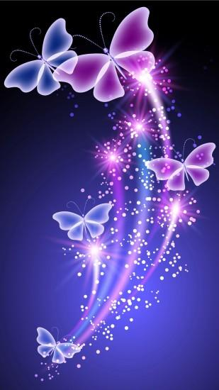 Colorful fluorescent butterfly wallpapers for galaxy S6.jpg (1440×2560)