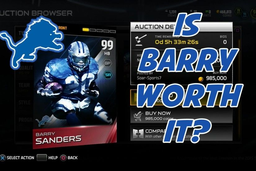 Barry Sanders Background.