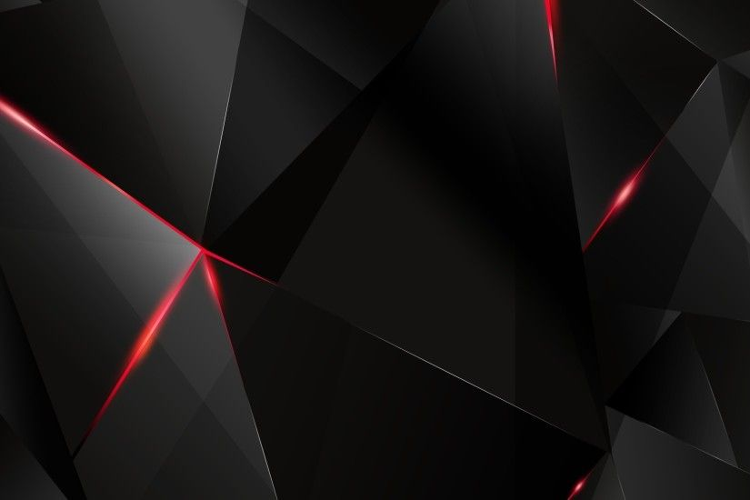 Red Black Shapes Wallpaper