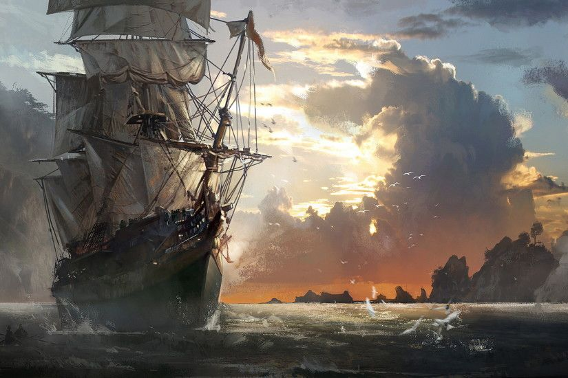 Ghost Pirate Ship Wallpapers Hd