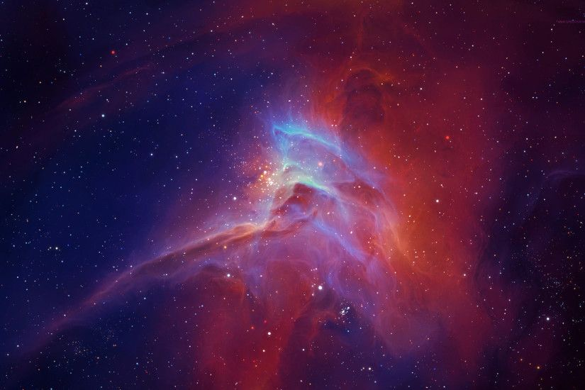 Download now full hd wallpaper energy cloud red deep space ...