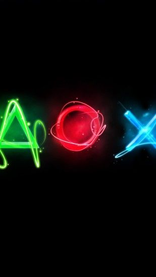 Preview wallpaper playstation, symbols, graphics, keys 1440x2560