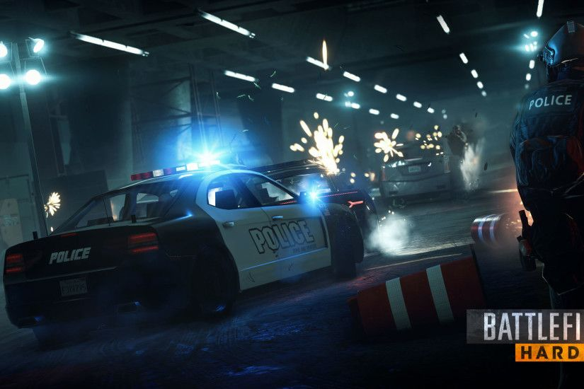Battlefield Hardline - Police Car 1920x1080 wallpaper