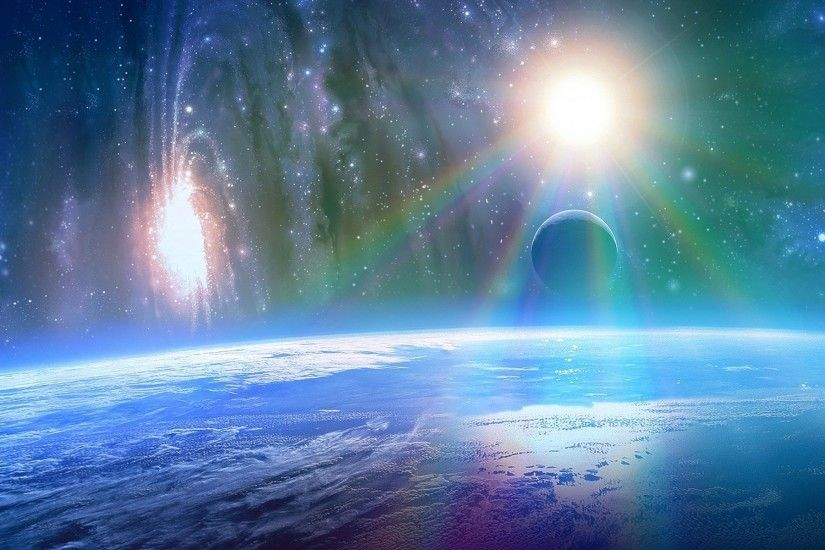 Bright Sunshine Outer Space wallpapers and stock photos