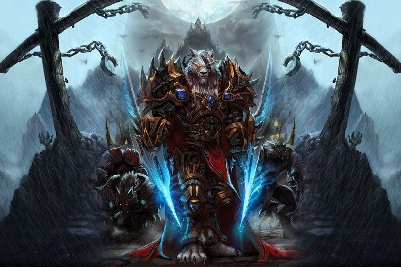 World Of Wwarcraft Wallpaper Worgen - HD Wallpaper