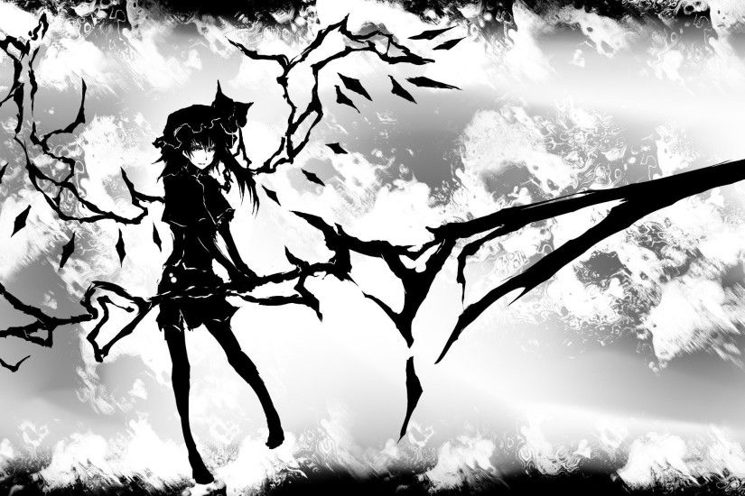 Touhou, Monochrome, Flandre Scarlet HD Wallpapers / Desktop and Mobile  Images & Photos