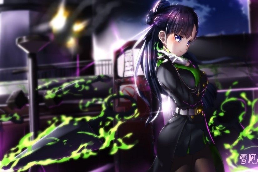 Anime - Seraph of the End Weapon Purple Hair Long Hair Blue Eyes Shigure  Yukimi Wallpaper