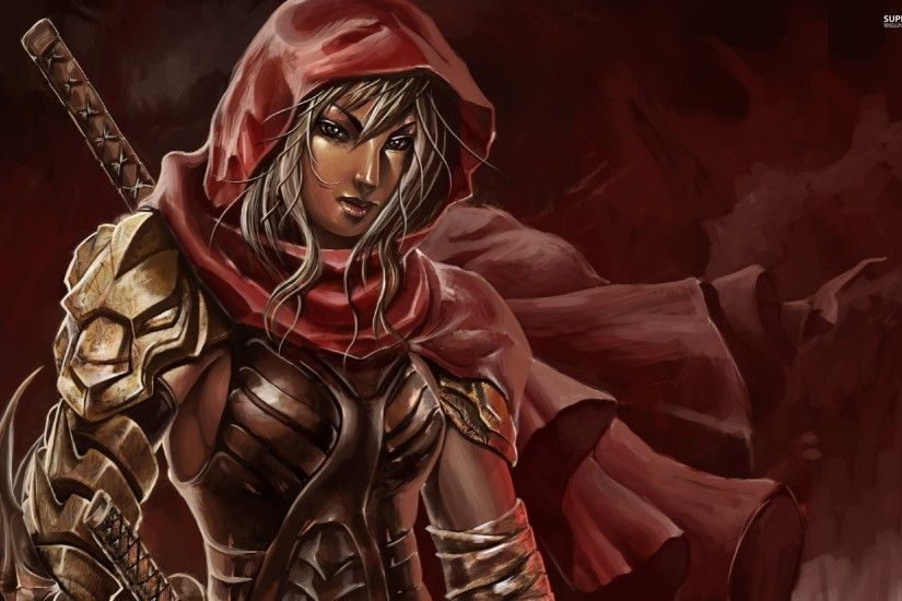 Warrior With A Red Hood