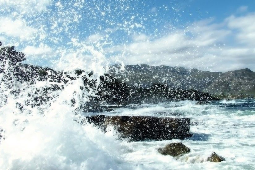 Crashing waves Wallpaper Beaches Nature