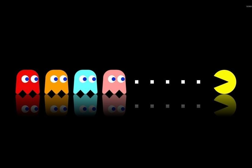 Pac-Man chasing the ghosts wallpaper 1920x1200 jpg