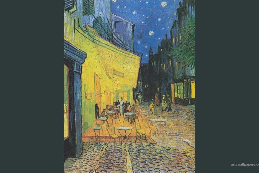 Starry Night Vincent Van Gogh Cafe Terrace At Painting 1920x1200 .