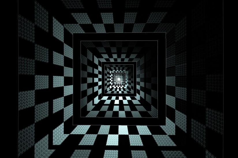 optical Illusion, Square, Abstract, Geometry